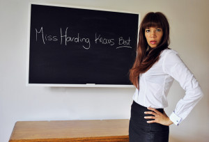 Francesca Harding for naughty schoolboy spanking and caning. Kings Cross. London.